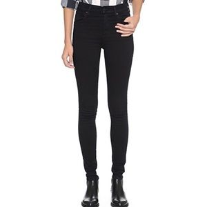 Black Agolde Skinny Jeans